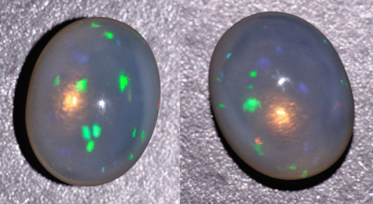 Cut opal sample with photonic crystal properties