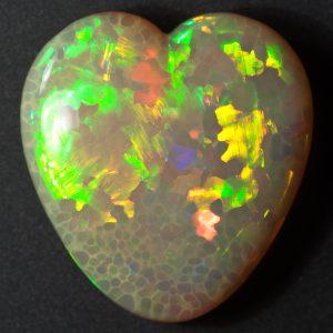 Ethiopian Opal Heart