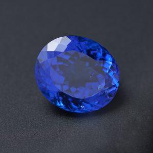 Violetish Blue Tanzanite Oval 4.7 ct