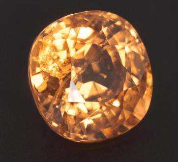 Cushion cut yellow Spessartite garnet