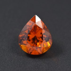 Orange Spessartite Garnet Pear 3ct