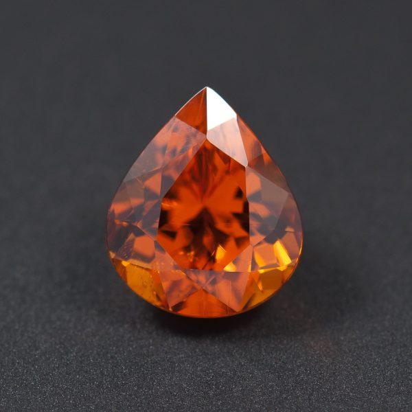 Orange Spessartite Garnet Pear 3ct