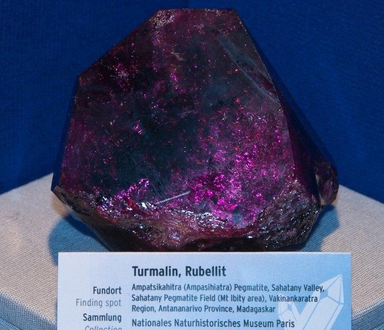 Gigantic Rubellite Tourmaline crystal at munich 2012