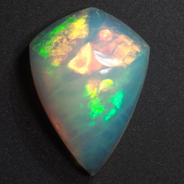 ethiopian welo opal kite shaped carved cabochon