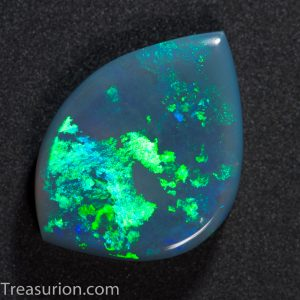 Grey Australian Opal green mosaic pattern 2.4ct