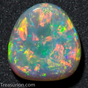 Australian Grey Multicolor Opal 0.9 ct